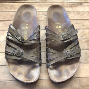Birkenstock Sandal Brown Metallic Shine